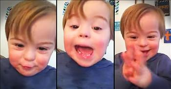 Young Boy With Down Syndrome Says The ABC's In The CUTEST Way!