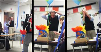 Students Surprises Teacher Who Hasn't Received Birthday Cake In 10 Years