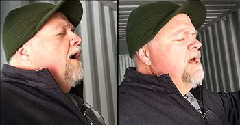 Man Sings 'Ave Maria' In Empty Shipping Container