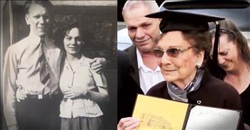 93-Year-Old Great Grandma Receives High School Diploma
