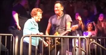 Rock Star Bruce Springsteen Brings 90-Year-Old Mom On Stage During Concert
