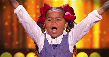 5-Year-Old Heavenly Joy Speads Happiness With Upbeat Song And Dance