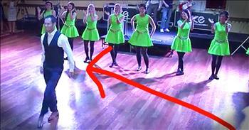 Groom Surprises Wedding Guests WIth Irish Dance