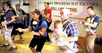 Groovin' Dads Dance With Their Babies
