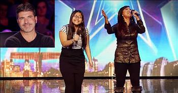 Mother-Daughter Duet Of 'Tell Him' Has Simon Smiling!