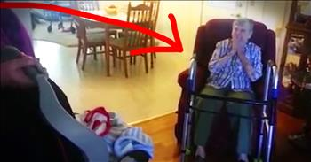 Great-Grandma Surprised With Adopted Great-Grandson