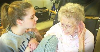 Young Girl Sings 'How Great Thou Art' To Great-Grandma