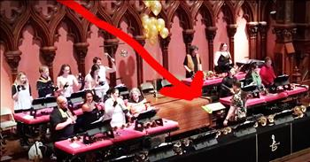 Handbell Choir's Surprise Performance Will Make You Smile