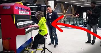 9-Year-Old Plays Piano In Subway - WOW!