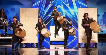 Talented Drummers Blow The Judges Away With Amazing Musical Dance Routine