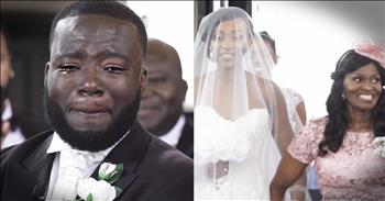 Groom's Tearful Reaction To His Bride Makes Me Tear Up Too