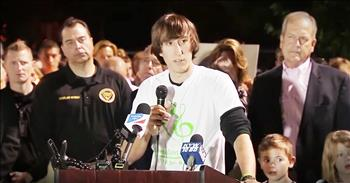 Brother Of Slain Singer And Christian Speaks Words Of Peace At Vigil