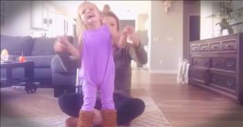 Little Girl With Cerebral Palsy Dances For The First Time