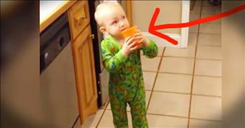 Toddlers Reaction To Vegetable Juice Is Hilarious