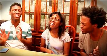 3 Teens Sing Beautiful Cover Of 'How Can It Be'