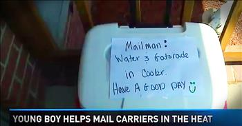 8-Year-Old's Act Of Kindness Touches Mailman