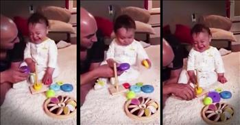 Cute Baby Can't Stop Laughing At His Toy
