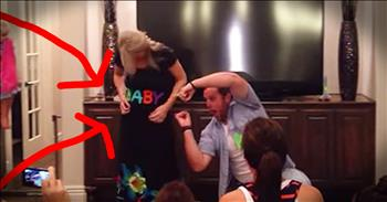 Epic Gender Reveal Dance Is Too Cute To Miss
