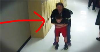 Teacher Miraculously Saves Student From Choking In Hallway