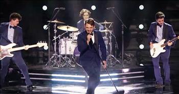 Teenage Crooner's Upbeat Performance Has Everyone Dancing