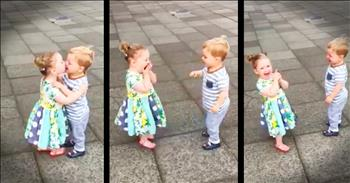 A Sweet Little Girl Kissed Him. And His Reaction Was TOO Perfect!