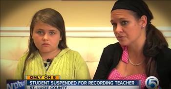 Little Girl Suspended For Reporting Bully Teacher