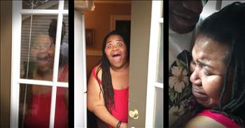 Soldier Shows Up At His Momma's Door For Surprise Reunion