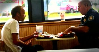 Officer's Meal With A Homeless Stranger Turns Into Something Beautiful