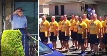 Sailors Honoring A WWII Veteran Get Emotional Surprise As He Stands To Salute