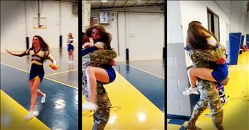 Cheerleader Gets Homecoming Surprise From Hero Big Brother
