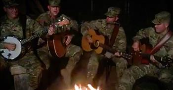 4 Soldiers Sing Neil Young Classic Around A Campfire