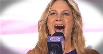 Country Artist Jennifer Nettles Sings 'The National Anthem'