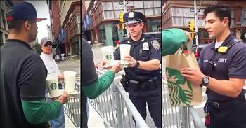 Stranger On Street Brings Police Officers Coffee After NYC Explosion