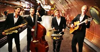 Amazing Quartet Gives Popular Song An Old-Timey Twist