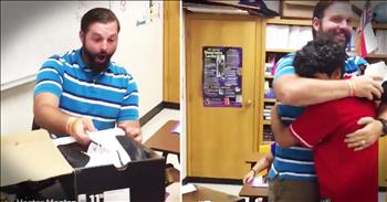 Students Give Caring Teacher The Sweetest Thank You Gift