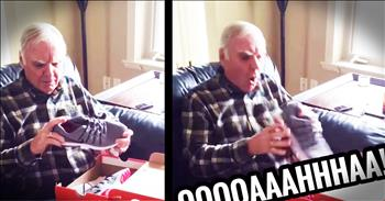 Daughter Surprises Dad With Light Up Tennis Shoes