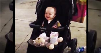 Baby Is Overjoyed To Discover Her Own Echo