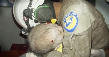 Rescuer Sobs When Baby He Rescued Comes Back To Life