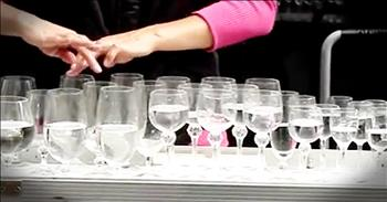 Street Performer Plays Classic Song Using Water Glasses