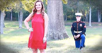 Soldier Surprises Girlfriend With Proposal Before Deployment