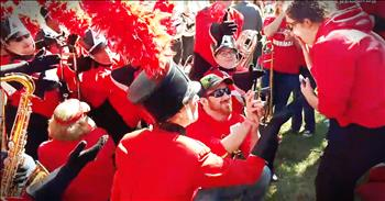 Marching Band Helps Guy Pull Off Surprise Proposal