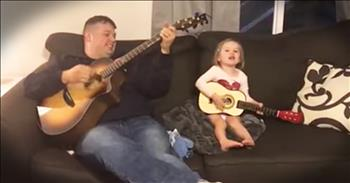 Daddy-Daughter Duet To 'You Are My Sunshine'