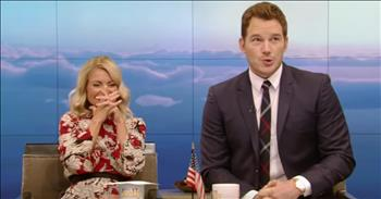 Actor Chris Pratt Steps Up After Accidentally Giving Away Prize On Live TV
