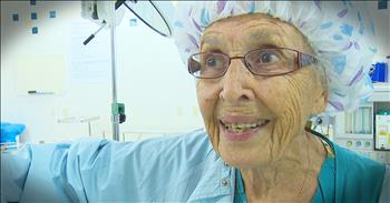 91-Year-Old Working Nurse Inspires With Incredible Story