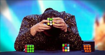 Blindfolded Man Solves 3 Rubiks Cubes And Stuns The Judges