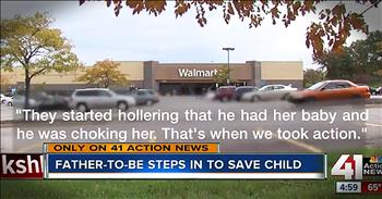 Wal-Mart Employee Stops Stranger From Choking 4-Month-Old Baby