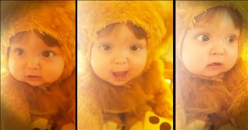 Baby Dressed As Tiny Lion Has Adorable Roar