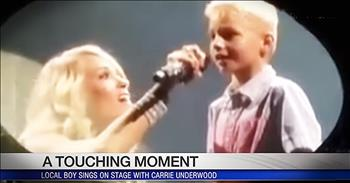Carrie Underwood Duets With Boy With Tourette Syndrome