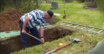 Grave Digger In Small Town Shares His Heartfelt Story