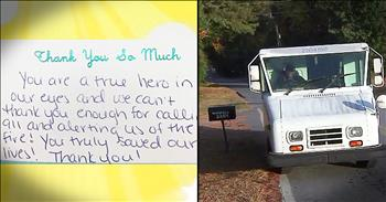 Postal Worker Saves Family From House Fire